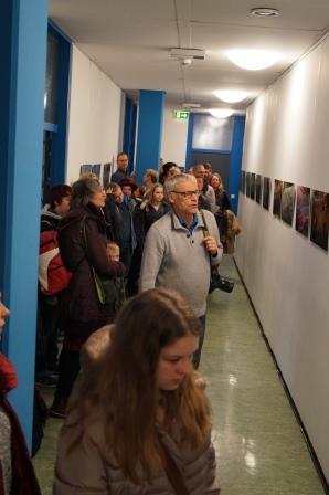 Uwe Stelter erläutert die Entstehung der Fotos